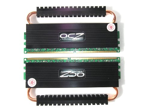 Dual channel matched pair DDR2-1066 memory with patent pending heat-pipe conduit cooling technology