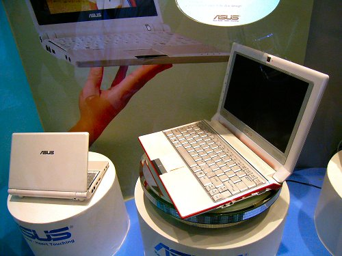 ASUS is also working on a larger 10-inch model of the Eee PC, which is still under qualification at the moment though.