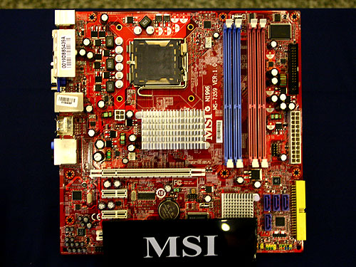 Besides consumer motherboards, MSI also offers enterprise customers a range of vPro certified products. The latest being the Q35MDO which is based on the Intel G35 paired with the ICH9DO. The board will support CPUs at FSBs up to 1333MHz and it comes with up to four DDR2 DIMM slots. The board will support a TPM (Trusted Platform Module) and it comes with the usual fare of features such as PCIe slots and SATA II ports.