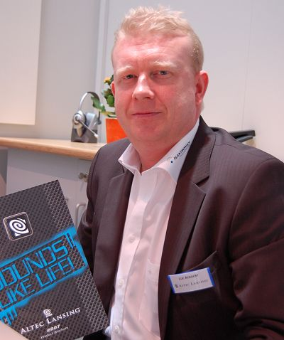 We had the pleasure of being briefed by Luc Ackaert, EMEA Marketing Director of Altec Lansing. With the move towards more home-centric products (and in a way re-entering the market where the company once focused), he explained that Altec Lansing will be modifying its end-user sales model to encompass demo rooms and the likes to better educate and convince the masses of its lineup. This will take some time to kick into effect but they understand that it is an important link to consumers and they can't rely solely on the traditional method of just flooding retail channels with their products.