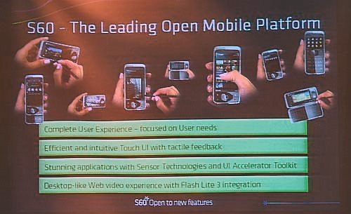 One of the highlights of the 2-day conference was the presentation of the upcoming S60 Touch Interface.