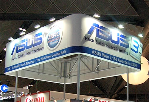ASUS was big on promoting their lineup of new LCD displays at the PC Show 2007. Also not to be missed are the brand new Santa Rosa platform based notebooks and their well built PDA phones.