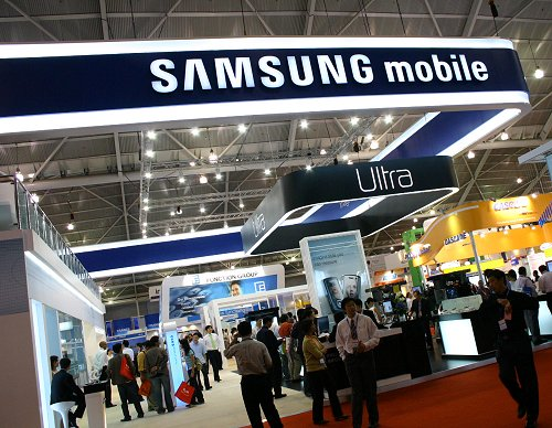 Samsung's presence was certainly very visible given the size of their exhibition floorspace.
