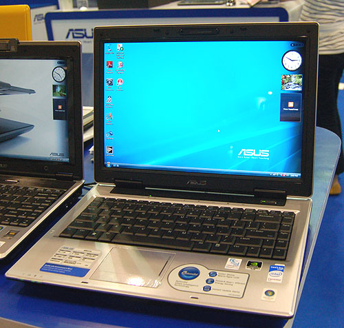 The ASUS A8 series of notebooks are perfect for the average user, with prices ranging from $1798 to $2598, depending on the configuration. At the very least however, you'll get an Intel Core 2 Duo processor and 1GB of DDR2 RAM. This model shown here is the A8Sc, which comes with a discrete GeForce 8400M graphics chipset for $2298.