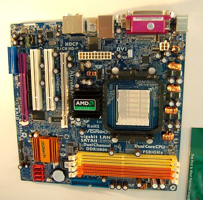 The AliveA690G-DVI/H is a very recent addition thanks to the just released AMD 690 Northbridge and it's paired with the ATI SB600 Southbridge to support AMD AM2 processors. With the integrated Radeon X700 graphics core variant sharing up to 512MB of system memory, this board has a DVI (HDCP compliant) and D-sub ports on its rear-IO panel. It even supports dual display output. Gigabit LAN, quad SATA 3Gbps ports with RAID capability, 7.1-channel HD Audio (ALC888) and the board is Windows Vista Premium certified.