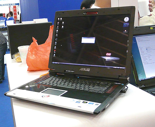 Black, red and silver makes for a gaming notebook like the ASUS G2S, which is truly made for gamers, what with its GeForce 8600M GT graphics and a 2.2GHz Core 2 Duo processor. Windows Vista is installed so go ahead and stock up on DirectX 10 games now.