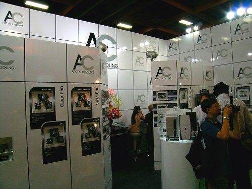 Artic Cooling's booth.