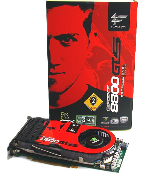 Jonathan 'Fatal1ty' Wendel is the face of XFX's enthusiast line of graphics cards and his intense gaze stares out from the packaging of this new GeForce 8800 GTS.