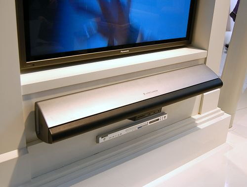 This is the PT7031 single-unit sound system that replaces separate A/V receivers and multiple speaker units. Using the system's NXT flat-panel technology to reflect sound off the walls, the unit is able to provide a complete multi-channel Dolby surround sound processing. With a more aesthetically pleasing design, it looks like it is going to give Yamaha a serious competition. Comes with a universal remote control and this one-unit surround sound system is expected to be available in after June this year.