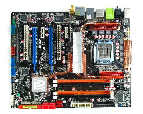 The ASUS P5E3 Deluxe WiFi-AP@n Edition motherboard.