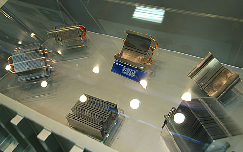 CPU coolers with aluminum fins like the ones shown here are quite common nowadays, just with slightly different permutations.