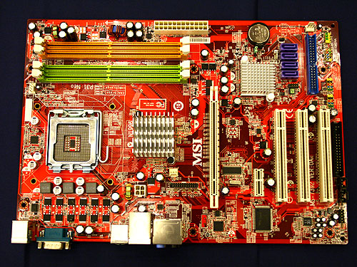 Besides boards with integrated graphics, MSI also launched the P31 Neo motherboard which is based on the lower-end Intel P31 chipset. The Intel P31 northbridge is paired with the older ICH7, thus giving it support to older legacy IDE devices through its single channel IDE controller. The board will also support four SATA II ports, one PCIe x16 graphics slot and four DDR2-800 DIMM.