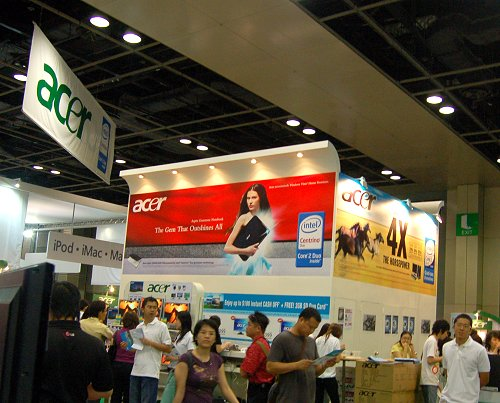 Acer has many notebooks and LCDs on sale that should be popular with students and the likes.