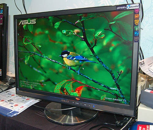 If you just need a big screen with forward looking features, the ASUS MW221U 22-inch widescreen monitor at $559 would be an ideal choice. Its speedy 2ms panel and HDCP compliant digital input would really prolong the lifespan and versatility of the monitor. It also has a pair of 1W speakers integrated into the display. PC Show offer includes an ASUS U3000 digital TV tuner and DVI-D cable too!