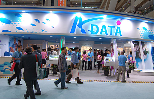 A-DATA Technology managed to snag a prime spot at Computex, with its booth right smack at one of the main entrances to the hall. The booth itself too is quite large, with many helpful sales representatives ready to share their knowledge of A-DATA's diverse memory based digital products.