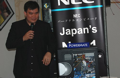 Joe Augustin was at hand both as the event emcee and celebrity guest for his personal experiences with the new NEC POWERMATE X server. Popular blogger Dawn Yang was also scheduled to make an appearance with her own experiences with the chic POWERMATE P, but unfortunately, she was unable to make it in time.