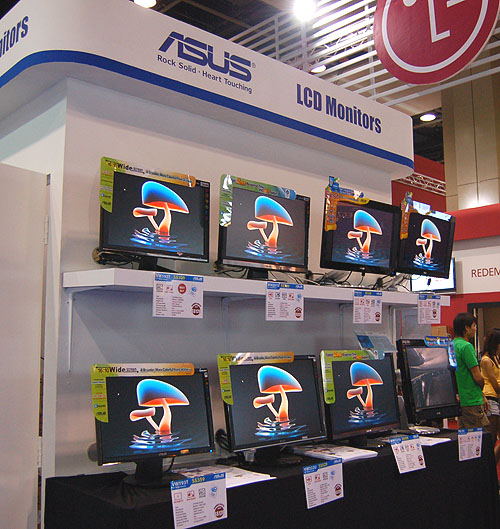 Though they may not be the biggest LCD brand in the local market, ASUS has a comprehensive lineup and some very extremely attractive LCDs monitors on display at their booth.