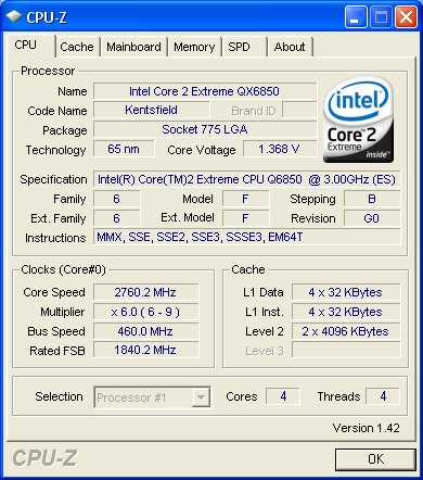 In order to run memory at 1840MHz, FSB and CPU have to be overclocked as well.