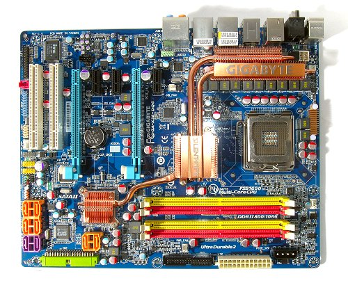 The Gigabyte GA-X38-DQ6 motherboard.