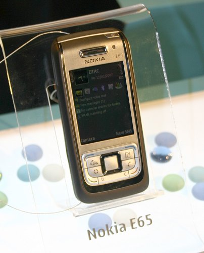 Sliding design has mostly been limited to consumer handsets but with the E65, Nokia has answered the wishes of executives wanting style with the robustness of Symbian 9.1 operating system.