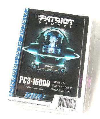 Patriot Extreme Performance PC3-15000 2GB Kit (DDR3-1866).