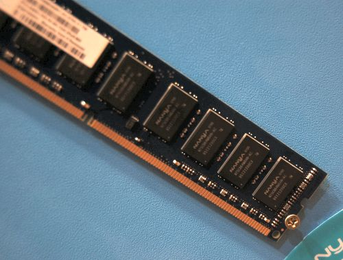 Here's a 1GB DDR-1066 memory module from Elixir. Operating at 1.5V, its memory timings are 7-7-7. From what we've heard, DDR3 performs similar to DDR2 clock-for-clock. Thus some memory vendors we spoke to mentioned that they would only debut DDR3 memory modules at speeds higher than what current DDR2 parts can handle. Besides, there's plenty of DDR2 in the market already and it won't help if DDR3 is introduced to compete against these.