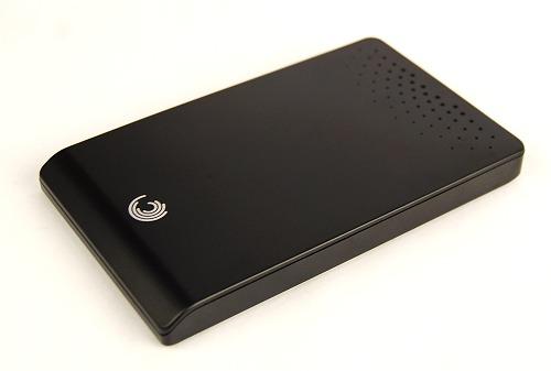 Seagate FreeAgent Go portable drive.