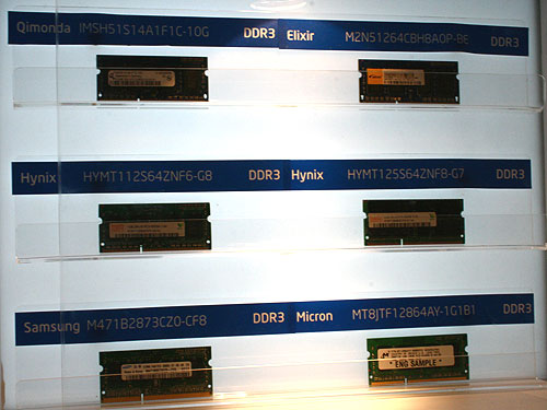 There will be DDR3 SO-DIMMs too, which means DDR3 will eventually move into notebooks.