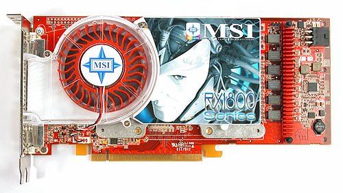 Like the previous three cards that we have seen, the MSI decal is actually a sticker over ATI's reference design.