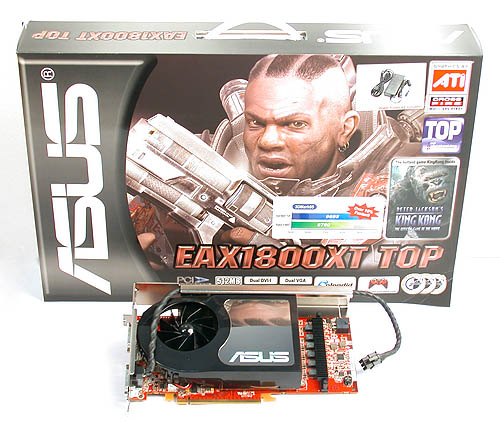 Although the ASUS EAX1800XT TOP comes in a giant box, you may rest assure that it contains substance rather than filler.