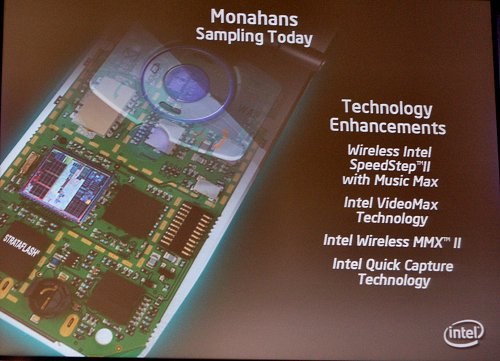 What's new to the Monahans XScale mobile processors.