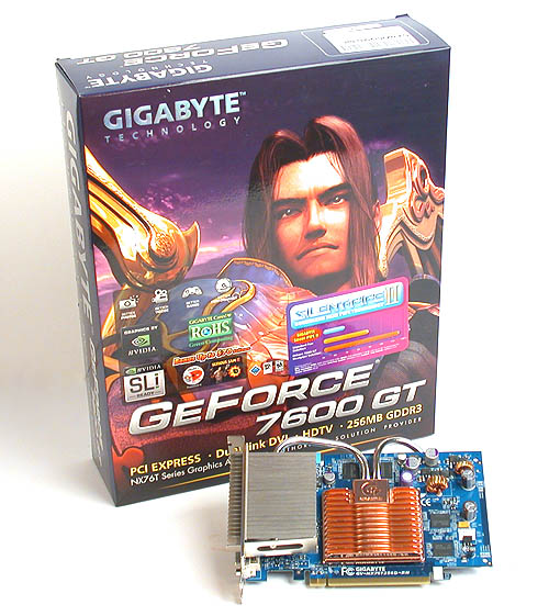 Gigabyte's familiar purple packaging for its recent graphics products stands out from its competitors with its portrait rather than landscape orientation.