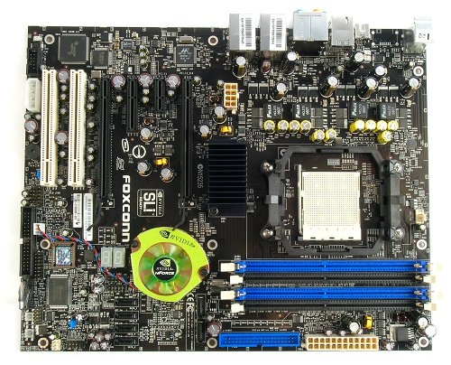 The Foxconn C51XEM2AA Socket AM2 motherboard.