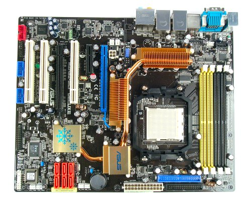 The ASUS M2N32-SLI Deluxe is the upcoming Socket AM2 motherboard from ASUS. The most striking features is the elaborate chipset cooling and the need to switch the CPU socket and DIMM slots around to accommodate it.