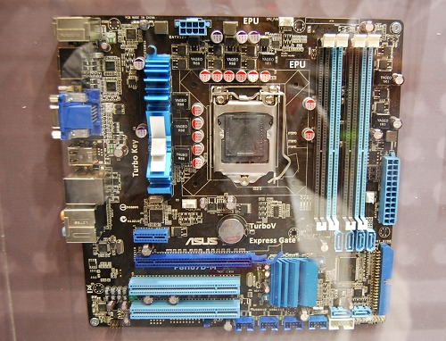 Last but not least, we've the ASUS P8H67D-M, an Intel H67 based chipset in an microATX format.