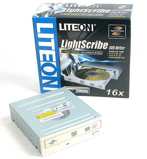 The LITE-ON SHM-165H6S Internal DVD Writer.