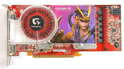 The Gigabyte decal is a sticker that barely hides its reference card roots.