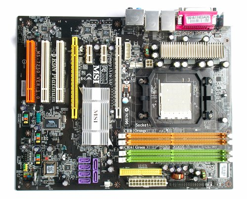 The MSI K9N Platinum motherboard.