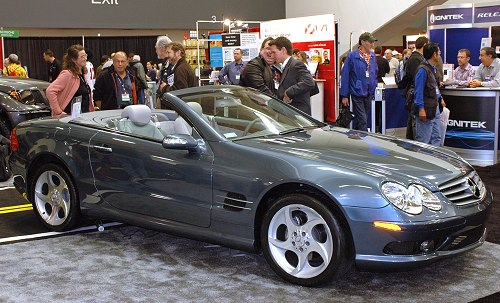 This Mercedes Benz is one of the cars there that showcased car integration kits for your iPod.