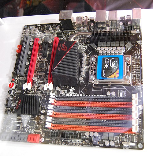If you want the very best of features but compacted to microATX size, ASUS has the recently revised and released the ASUS ROG motherboard, Rampage III Gene. Mini size and Max power is its slogan and going by our previous analysis of a Gene mobo, we think it's certainly true. Features include but not limited to the Intel X58 chipset, support for DDR3-2200, ROG Connect, Supreme FX X-Fi II and GameFirst.