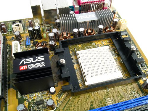 ASUS spread out the rest of the motherboard components, but ended up leaving little room for the CPU socket. Users with third party coolers might want to check if everything fits.