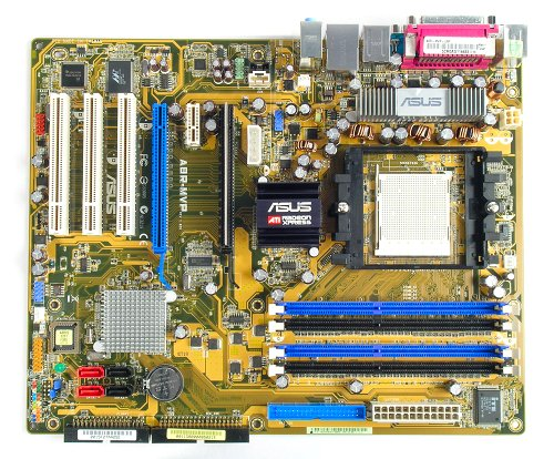 The ASUS A8R-MVP motherboard.