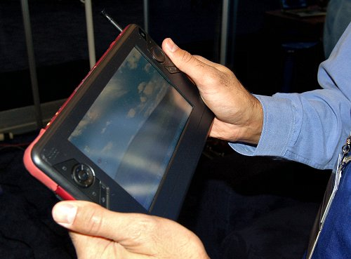 It's the 'On-the-go', 'Hand-top', 'Origami' Ultra-mobile PC.