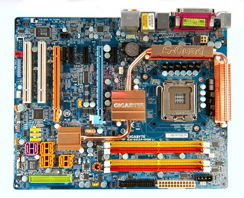 The Gigabyte GA-965P-DQ6 motherboard.