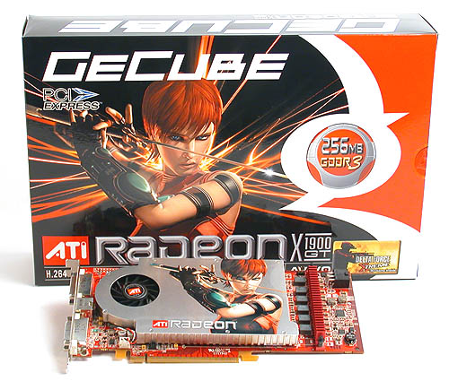 GeCube's packaging leaves no doubt that it's hawking an ATI product.