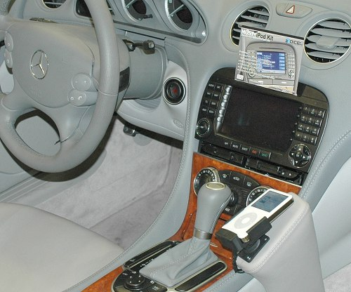 Decked by DICE Electronics, this iPod kit connects to most bus equipped Mercedes Benz/Porsche vehicles. You can charge your iPod and control it from the radio and steering wheel.