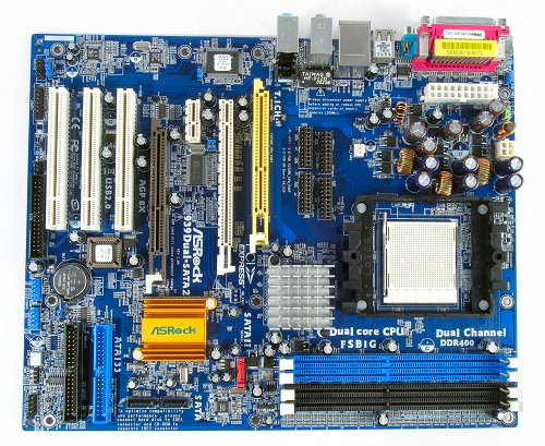 The ASRock 939Dual-SATA2 motherboard.