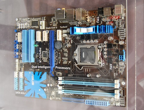"""Now for some next generation P67 class boards for the future Intel """"Sandy Bridge"""" processors. Here's the ASUS P8P67D LX mobo - no other details are shared as of now."""