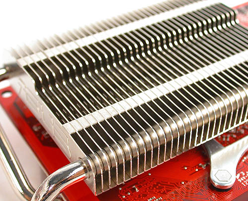 A closer look at the heatsink radiator.