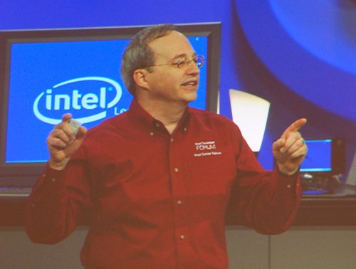 Justin Rattner describing Intel's new Core microarchitecture during his opening keynote at IDF Spring 2006 in San Francisco.